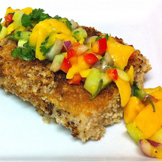 Macadamia-Coconut Encrusted Mahi Mahi & Mango Salsa (Gluten-free)