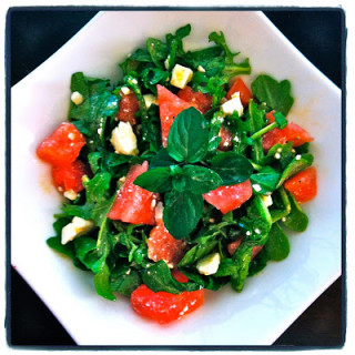Watermelon, Feta, & Arugula Salad