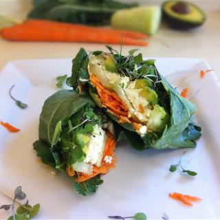 Hummus & Veggie Collard Wraps