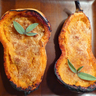 Twice Baked Butternut Squash w/Brown Sugar & Sage
