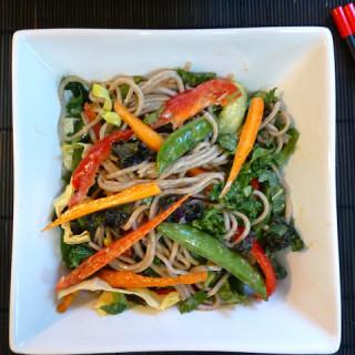Soba Noodle Salad w/Peanut-Tahini Dressing