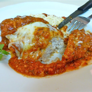 Slow Cooker Chicken Parmesan w/Orzo