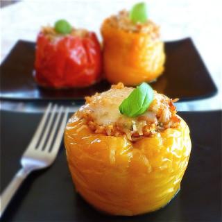 Crock Pot Turkey & Rice Stuffed Peppers