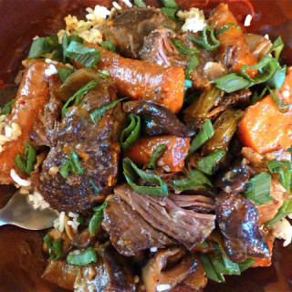 Asian-Style Sweet & Spicy Short Ribs- Crock Pot Style