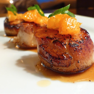 Mandarin Glazed Scallops