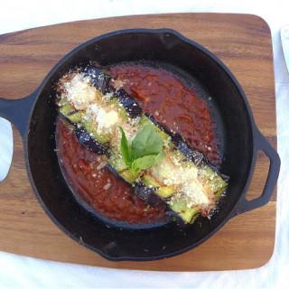 Eggplant Rolls w/Ricotta, Spinach, Mushrooms, & Shallots… On the Grill!
