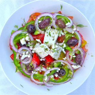 Horiatiki Salata… Traditional Village-Style Greek Salad