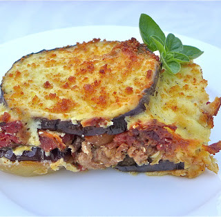 Eggplant, Potato, & Turkey Moussaka… Layered Greek Goodness