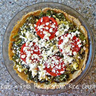 Kale & Feta Pie w/Brown Rice Crust {Gluten-free}