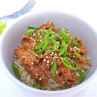 Spicy Sesame Honey Chicken… in the Crock Pot! {Gluten-free}