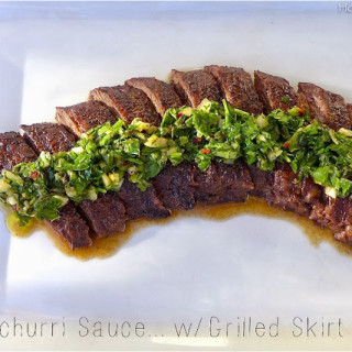 Chimichurri Sauce {w/Skirt Steak}