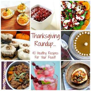 Thanksgiving Roundup… 40 Healthy Recipes For Your Feast!