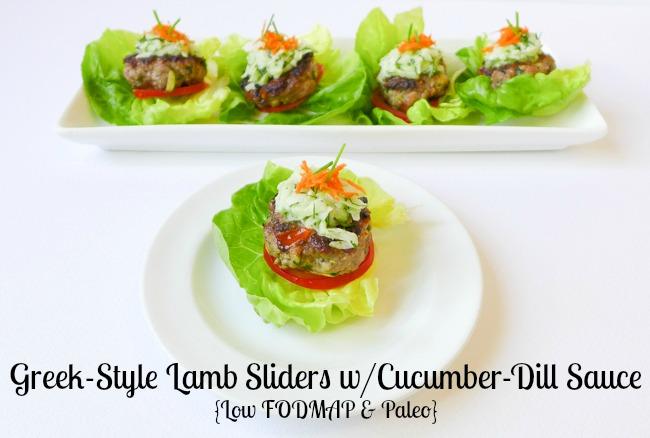 Greek-Style Lamb Sliders {FODMAP & Paleo}