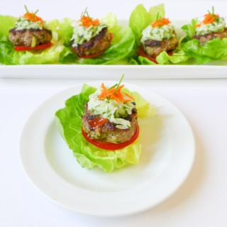 Greek-Style Lamb Sliders w/Cucumber-Dill Sauce {Low FODMAP, Paleo}