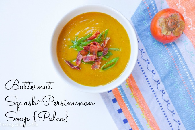 butternut squash persimmon soup paleo