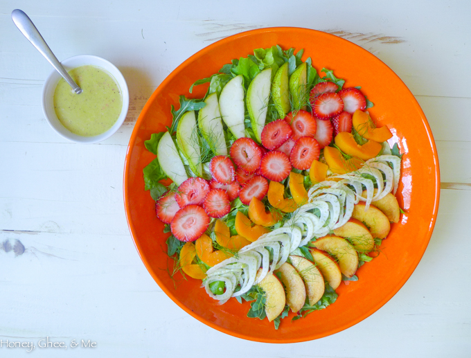 Watch Nectarine Salad with Arugula and Goat Cheese video