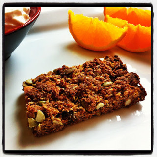 Breakfast Bars {Made w/Almond Meal, Coconut, Dried Fruit, & Honey}