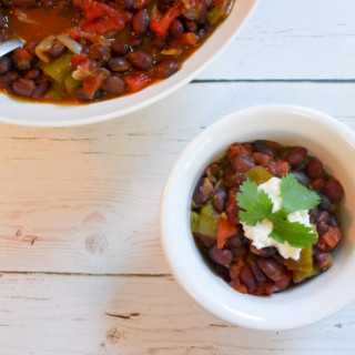 Slow Cooked Spiced Black Beans