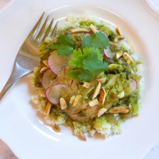 {Whole30} Crock Pot Cilantro Chicken w/Cauliflower Rice
