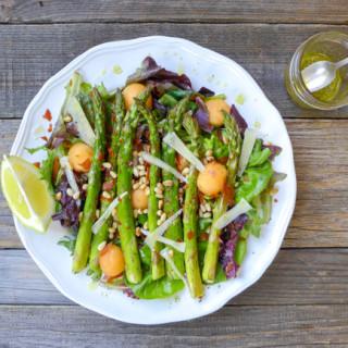 Asparagus, Melon, & Crispy Prosciutto Salad