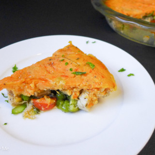 Chicken Pot Pie w/Sweet Potato 'Crust' {Paleo & Low FODMAP}