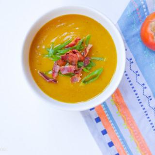 Butternut Squash & Persimmon Soup {Paleo}