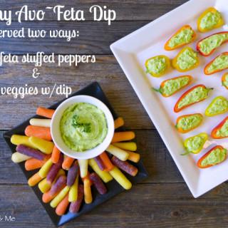 Creamy Avo-Feta Dip {& Avo-Feta Stuffed Peppers}