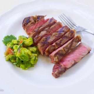Grilled New York Steak w/Avocado Salsa