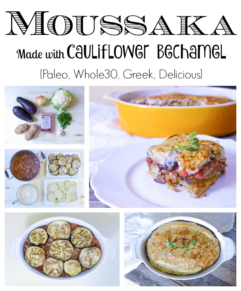 Moussaka Made with Cauliflower Bechamel... But You'd Never Know It {Paleo, Whole30, & Delicious}