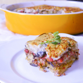 Moussaka Made with Cauliflower Bechamel… But You'd Never Even Know It {Paleo, Whole30}