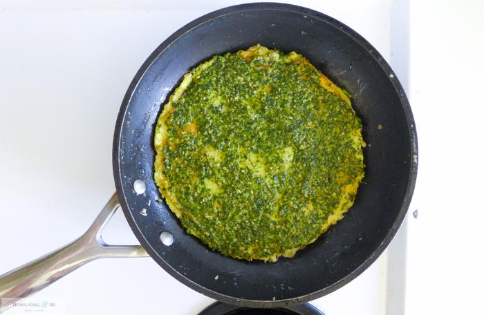 breakfast pesto omelet pizza frittata-10