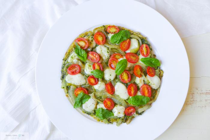 breakfast pesto omelet pizza frittata-26