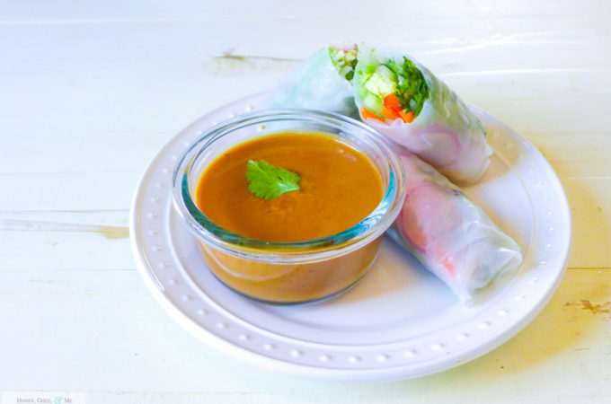 Fresh Veggie Spring Rolls & Peanut Dipping Sauce