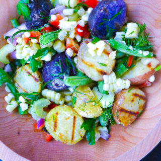 Grilled Potato & Corn Salad