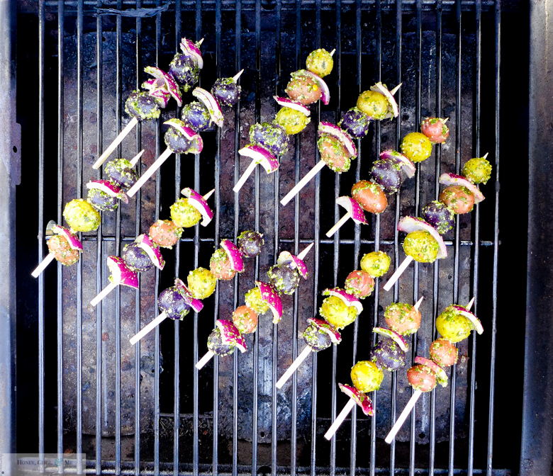 grilled apricots and potato skewers -21