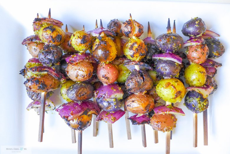 grilled apricots and potato skewers -24