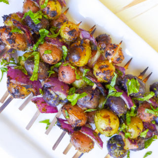 Pesto Potato Skewers
