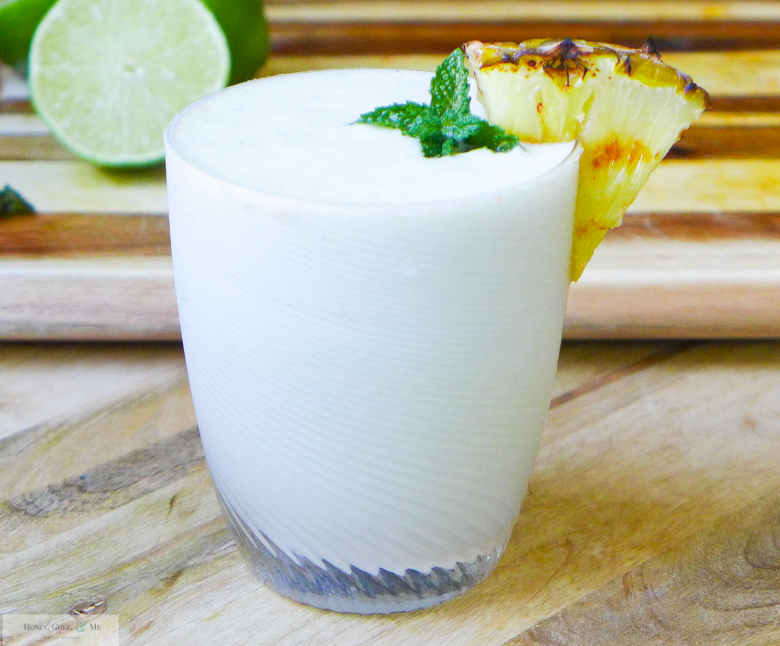 grilled pineapple margarita coconut jalapeno mint-26