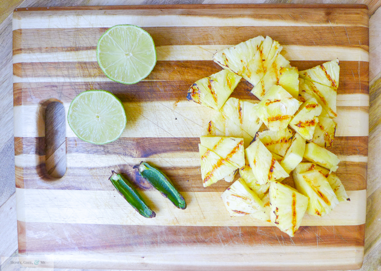 grilled pineapple margarita coconut jalapeno mint-4