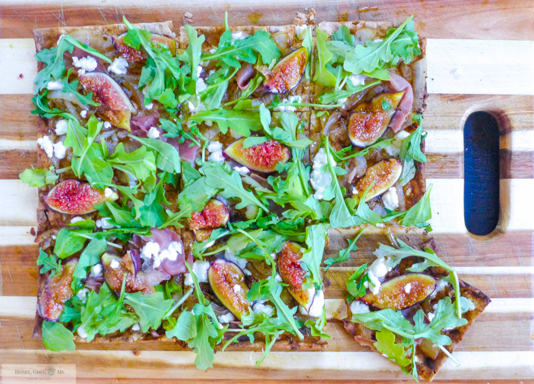 fig prosciutto goat cheese pizza grilled