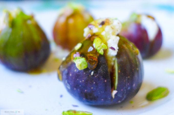 Ricotta, Honey, & Pistachio Fig & Peach Bites