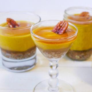 No~Bake Pumpkin, Maple Caramel, & Pecan~Coconut Crust Desserts {Paleo~Style}