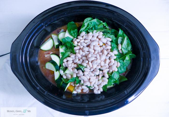 butternut squash chicken stew crrock pot bean-14