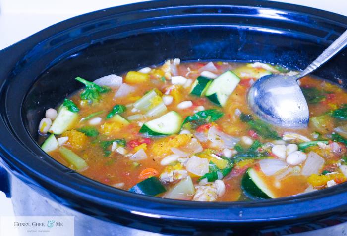 butternut squash chicken stew crrock pot bean-21