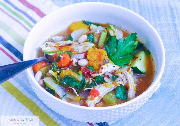 butternut squash chicken stew crrock pot bean-31
