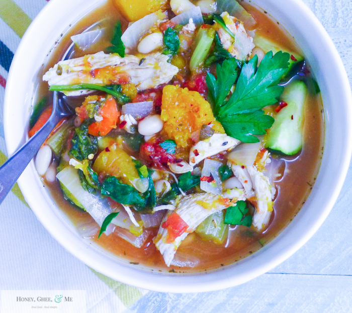 butternut squash chicken stew crrock pot bean-34