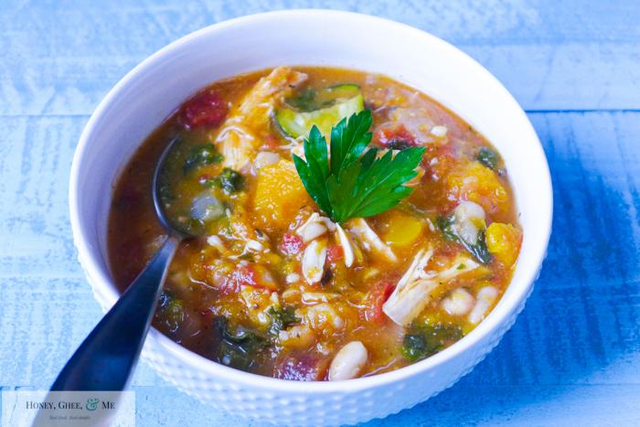 butternut squash chicken stew crrock pot bean-44