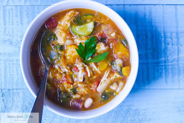 butternut squash chicken stew crrock pot bean-45