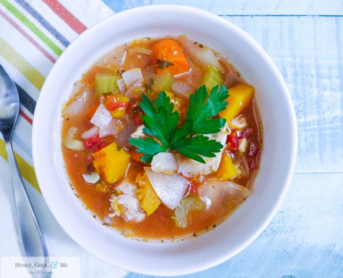 butternut squash chicken stew crrock pot bean-7