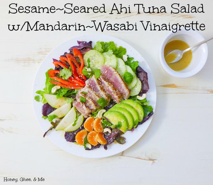 ahi tuna salad-wasabi mandarin